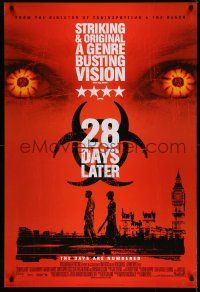 1w004 28 DAYS LATER style B int'l DS 1sh '03 Danny Boyle, Cillian Murphy vs. zombies in London!