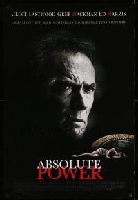1w019 ABSOLUTE POWER 1sh '97 great image of star & director Clint Eastwood!