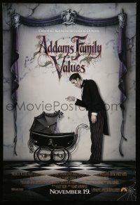 1w022 ADDAMS FAMILY VALUES advance DS 1sh '93 Christina Ricci, the family just got a little stranger