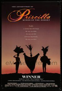 1w027 ADVENTURES OF PRISCILLA QUEEN OF THE DESERT DS 1sh '94 silhouette of Stamp, Weaving, Pearce!