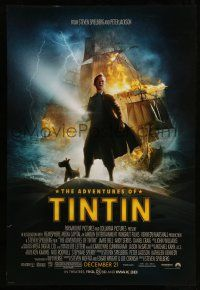 1w029 ADVENTURES OF TINTIN advance DS 1sh '11 Steven Spielberg's version of the Belgian comic!