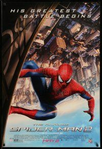 1w041 AMAZING SPIDER-MAN 2 advance DS 1sh '14 Andrew Garfield, his greatest battle begins!