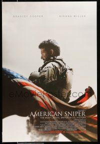 1w048 AMERICAN SNIPER advance DS 1sh '14 Clint Eastwood, Bradley Cooper as legendary Chris Kyle!