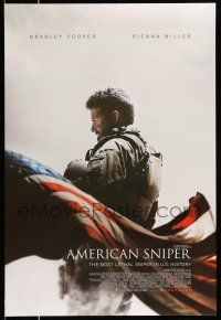 1w049 AMERICAN SNIPER int'l advance DS 1sh '14 Eastwood, Bradley Cooper as legendary Chris Kyle!