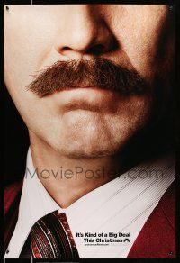 1w055 ANCHORMAN: THE LEGEND CONTINUES teaser DS 1sh '13 great close-up of Will Ferrell's 'stache!