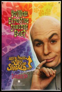 1w070 AUSTIN POWERS: THE SPY WHO SHAGGED ME teaser DS 1sh '97 Mike Myers as Dr. Evil!
