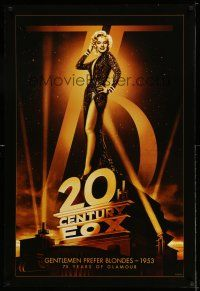 1w001 20TH CENTURY FOX 75TH ANNIVERSARY 27x40 commercial poster '10 Gentlemen Prefer Blondes!