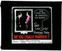 1x007 ARE YOU LEGALLY MARRIED glass slide '19 learn whether your wife can be arrested for bigamy!