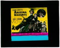 1x009 ARIZONA MAHONEY glass slide '36 young Buster Crabbe & Bob Cummings, Zane Grey circus movie!
