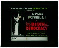 1x015 BIRTH OF DEMOCRACY glass slide '18 pretty Italian Lyda Borelli in the French Revolution!