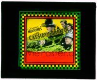 1x020 CASSIDY OF BAR 20 glass slide '38 great c/u of William Boyd as Hopalong Cassidy with gun!