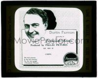 1x026 DUSTIN FARNUM glass slide '20s the action star in his latest from Paramount Pictures!