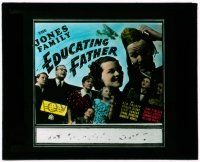1x028 EDUCATING FATHER glass slide '36 Jed Prouty, Spring Byington, 2nd The Jones Family movie!