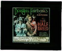 1x035 HALF-BREED glass slide R18 stern Douglas Fairbanks by pretty Alma Ruebens in church!
