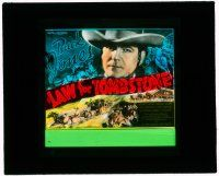 1x043 LAW FOR TOMBSTONE glass slide '37 great close up of cowboy Buck Jones, who also directed!