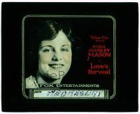 1x051 LOVE'S HARVEST glass slide '20 wonderful super close up of pretty Miss Shirley Mason!