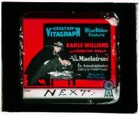 1x052 MAELSTROM glass slide '17 Earle Williams in an astounding adventure story!