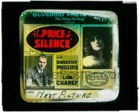 1x070 PRICE OF SILENCE glass slide '16 Lon Chaney Sr. blackmails a woman to marry her daughter!