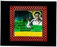 1x071 RENEGADE RANGER glass slide '38 great image of George O'Brien holding smoking gun!