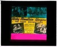 1x074 ROCKY MOUNTAIN RANGERS glass slide '40 The Three Mesquiteers, Livingston, Hatton & Renaldo!