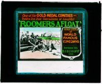 1x075 ROOMERS AFLOAT glass slide '25 12 two reel convulsions of laughter w/world famous comedians!