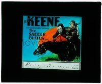 1x078 SADDLE BUSTER glass slide '32 art of Tom Keene & Foster in the roaring romance of the rodeos!