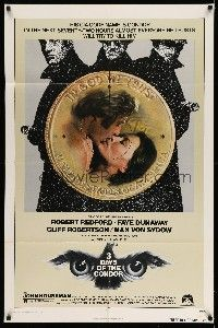 1y011 3 DAYS OF THE CONDOR 1sh '75 CIA analyst Robert Redford & Faye Dunaway!