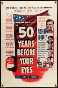 1y013 50 YEARS BEFORE YOUR EYES 1sh '50 America's story told by Arthur Godfrey & best newscasters!