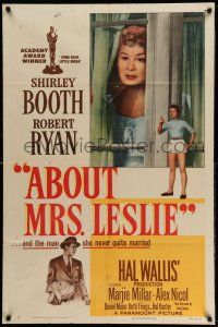 1y015 ABOUT MRS. LESLIE 1sh '54 Shirley Booth, Robert Ryan, the man she never quite married!