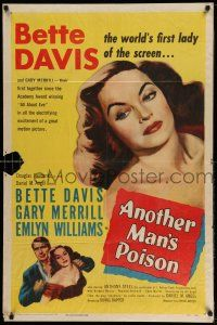 1y039 ANOTHER MAN'S POISON 1sh '52 art of sexy Bette Davis, world's first lady of the screen!