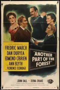 1y040 ANOTHER PART OF THE FOREST 1sh '48 Fredric March, Ann Blyth, from Lillian Hellman's play!