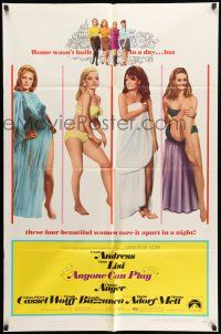 1y042 ANYONE CAN PLAY 1sh '68 sexy Ursula Andress, Virna Lisi, Claudine Auger & Marisa Mell!