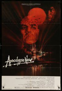 1y043 APOCALYPSE NOW 1sh '79 Francis Ford Coppola, classic Bob Peak art of Brando and Sheen!
