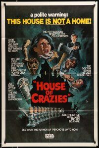 1y050 ASYLUM 1sh R80 Peter Cushing, Britt Ekland, horror, House of Crazies!