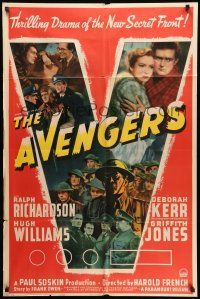 1y053 AVENGERS style A 1sh '42 Ralph Richardson & Deborah Kerr in World War II!