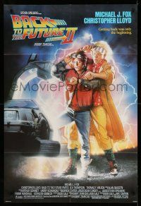 1y058 BACK TO THE FUTURE II 1sh '89 art of Michael J. Fox & Christopher Lloyd by Drew Struzan!