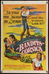 1y063 BANDITS OF CORSICA 1sh '53 Richard Greene will take the island by storm & Paula Raymond w/it!