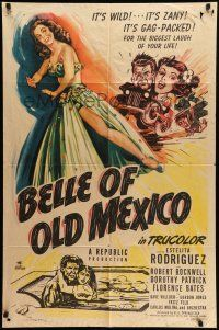 1y074 BELLE OF OLD MEXICO 1sh '50 full-length art of sexy dancer Estelita Rodriguez!