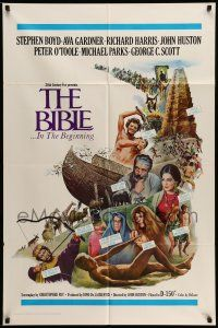 1y080 BIBLE int'l 1sh '67 La Bibbia, John Huston as Noah, Boyd as Nimrod, Ava Gardner as Sarah