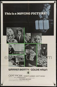 1y007 $ style B int'l 1sh '71 bank robbers Warren Beatty & Goldie Hawn, bank heist is on!