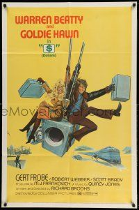 1y006 $ 1sh '71 great art of bank robbers Warren Beatty & Goldie Hawn on safe!