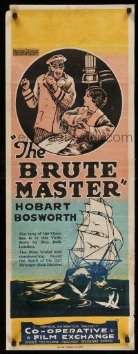 2b049 BRUTE MASTER long Aust daybill '20 Roy Marshall, Hobart Bosworth in title role, Nilsson!