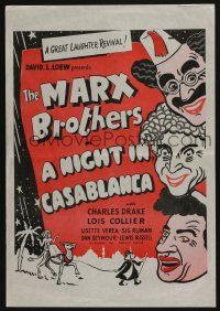 2b048 NIGHT IN CASABLANCA New Zealand poster R1960s The Marx Brothers, Groucho, Chico & Harpo!