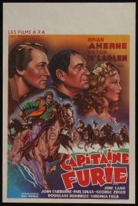 2b041 CAPTAIN FURY Belgian R40s directed by Hal Roach, art of Brian Aherne, Victor McLaglen!