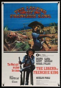 2b029 LEGEND OF FRENCHIE KING Canadian 1sh '71 sexiest Claudia Cardinale punching Brigitte Bardot!