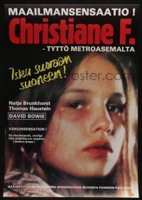 2b032 CHRISTIANE F. Finnish '81 classic German drug movie about 13 year-old drug addict/hooker!