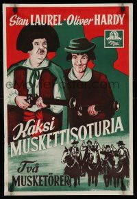 2b033 DEVIL'S BROTHER Finnish '33 Hal Roach, different Engel art of Laurel & Hardy!