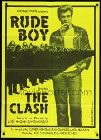 2b038 RUDE BOY Swiss '80 The Clash, cool different image of Mick Jones & police, green design!