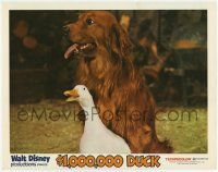 2f510 $1,000,000 DUCK LC '71 Disney, great close up of the duck hanging out with cool dog!