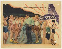 2f514 42nd STREET LC '33 Ginger Rogers watches Warner Baxter chewing out Ruby Keeler!